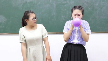 學霸王小九校園劇體育老師用吹氣球作考試成績沒想學渣考了滿分學霸卻考了0分