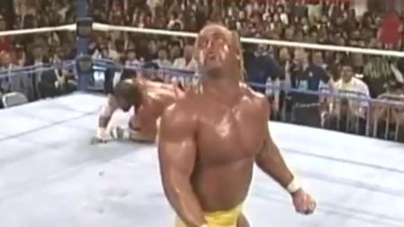 WWE:60岁霍恩老当益壮,还能徒手撕开衣服,肌肉完美!