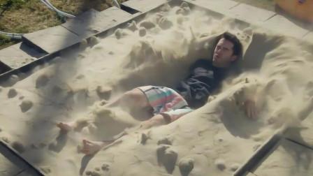 """最神奇的""""沙子""""游泳池,里面干沙不停沸腾,人跳进去后会浮起来!"""