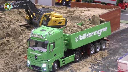 故障救援车大卡车油罐车,运输车和拖拉机玩具