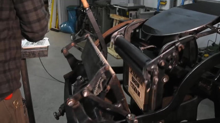 100年前的打印机,修复后居然还能用