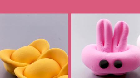 新年创意亲子游戏:孩子一学就会的黏土教程 金元宝小兔子