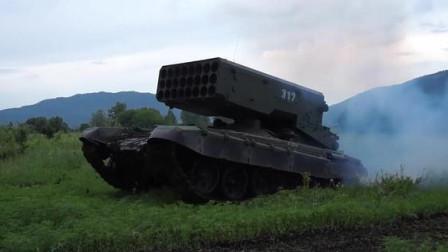 """美军都闻风丧胆的""""杀器""""!实拍俄罗斯TOS-1A自行火箭炮!"""