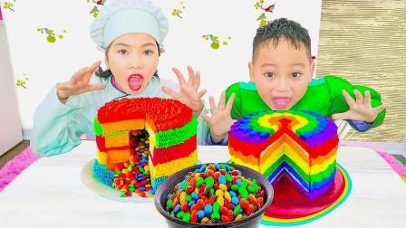 儿童游戏:绿巨人小弟弟与医生姐姐制作美味蛋糕