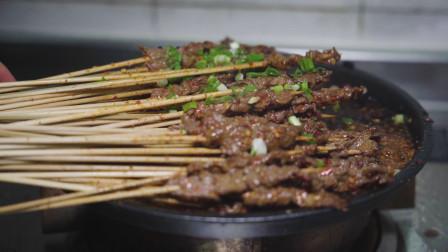 不用烧烤架,在家也能撸串了,没有生粉,牛肉一样嫩滑,巴适得板