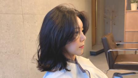 现今最流行的韩国微卷外翻发型,怎么修剪怎样烫的