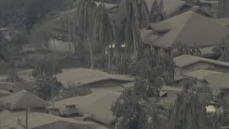 菲律宾 塔阿尔火山持续喷发 仍有浓烟冒出 周边居民陆续撤离 新闻早报 20200115 高清