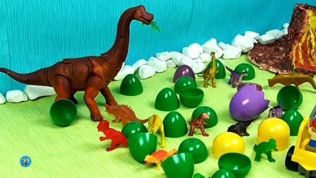 少儿益智玩具游戏,工程车和恐龙小恐龙恐龙蛋玩具,儿童玩具亲子互动,悠悠玩具城