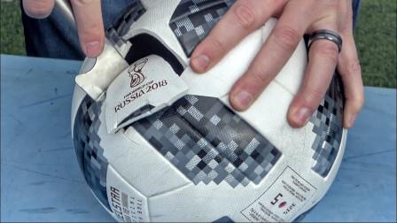 世界杯足球里究竟藏着什么秘密?男子好奇切开一看,难怪卖得这么贵!