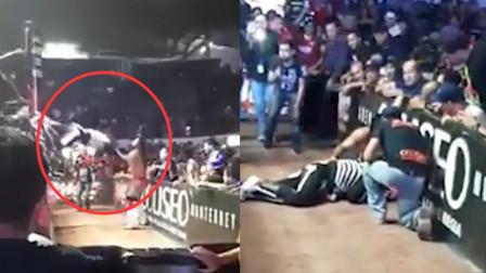 摔跤手比赛中飞扑对手 头部撞击护栏重伤身亡