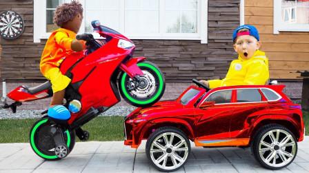 好神奇!萌宝小正太是如何解决刮花的车车呢?趣味玩具故事