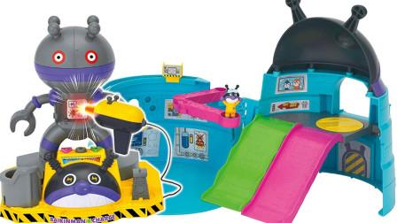面包超人机器人秘密基地冒险轨道车玩具