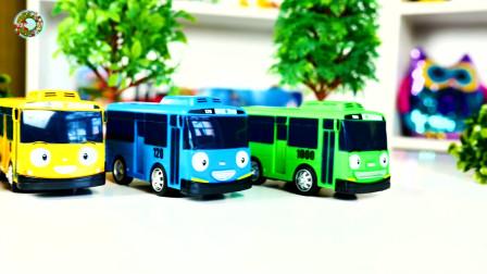 轮式装载车和巴士车玩具,儿童车辆玩具