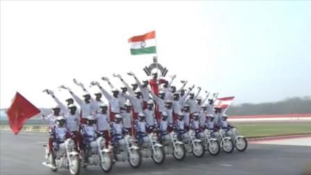 """印度举行建军节阅兵,摩托""""开挂""""特技又来了"""