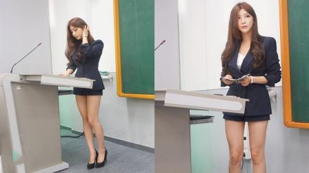 美貌与才华并存的女老师,课堂上跳起了《极乐净土》,同学们都嗨了!