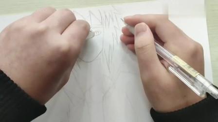 【挑战五十幅马克笔手绘】(四)动漫人物《火影忍者》水门绘画