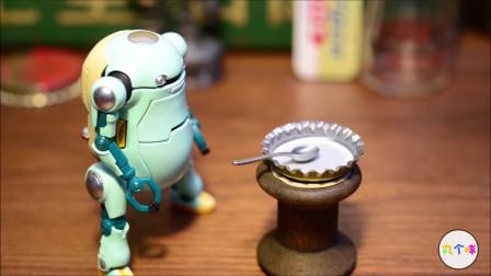 定格动画-趣味食玩微缩模型未来的食物
