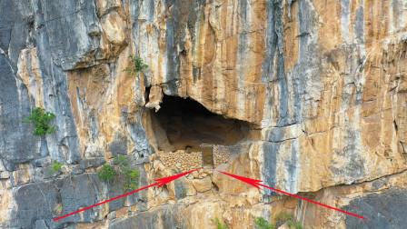 航拍贵州一山洞,只有鸟才能飞得上去,无人机拍到不可思议一幕