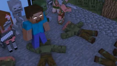 我的世界动画短片:怪物学院僵尸生活挑战 这也忒难了