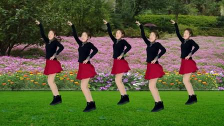 气质美女广场舞《爱的思念》动感健身舞,旋律优美好听至极!