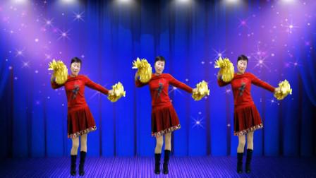 喜庆花球舞《正月初一是新年》舞曲欢快 动作简单好看 附教学