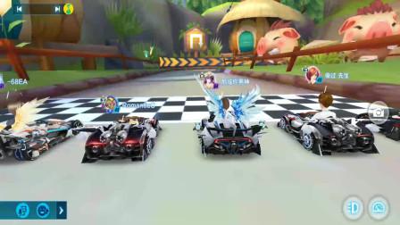 QQ飞车:排位赛小猪部落 毒奶主播上线 失误也能夺冠军