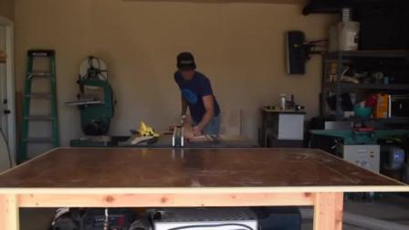 牛人创意:老外制作实木床,这技术堪比专业工匠,难怪说动手能力强了