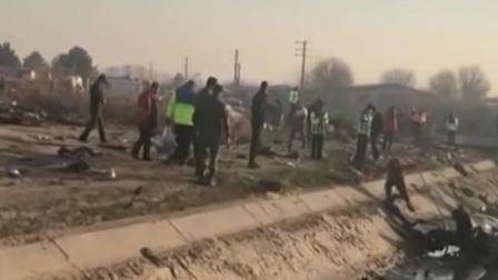 乌克兰 乌航客机在伊朗被击落 将向遇难者家庭提供经济赔偿 新闻早报 20200117 高清