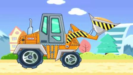 认识工程车推土机铲土机大货车装载车