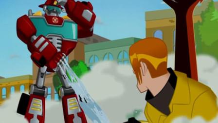 变形金刚升级版 英雄者联盟 救援机器人 拯救地球的使命 擎天柱机器人威震天 陌上千雨解说