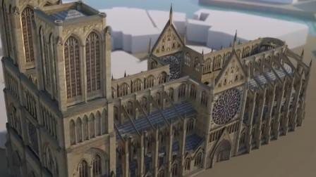 856年历史的巴黎圣母院怎么建成的?回顾建造过程,工程依旧宏伟!