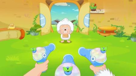 喜羊羊与灰太狼--奇趣外星客:懒羊羊吃太多,被列入厨房黑名单,被大家集体攻击