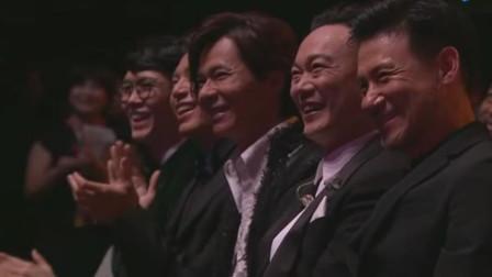 庾澄庆太厉害了,竟当着歌神的面唱他的歌,张学友在台下笑了