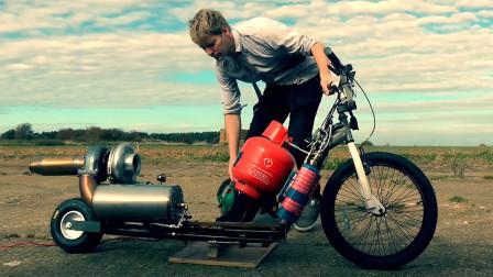 """老外制造""""最快""""滑板车,安装飞机发动机,网友:速度快到起飞"""