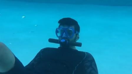 这款面罩只有口罩大小,却能让人在水下呼吸,看到价格死心了