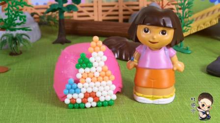 97 爱探险的朵拉水雾魔珠玩具,童话城堡