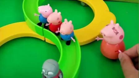 小猪宝宝们都和妈妈回家了,游乐场只剩小鬼自己了,小龟爸爸不来接他
