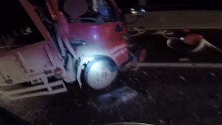 湖南货车车祸夫妻被卡 妻子一句话感动众人