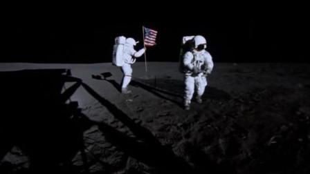 蹦蹦跳跳就像天线宝宝,阿波罗宇航员在月球上插上国旗!
