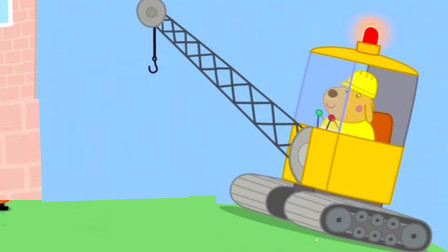 小猪佩奇 公牛先生的工程车吊车 简笔画
