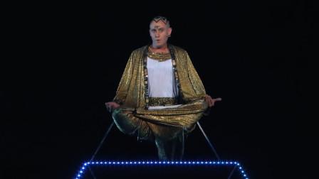 达人秀:高僧表演魔术,腾空消失闪现到楼顶,网友:厉害了!