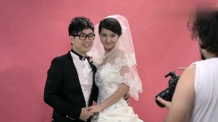 屌丝男士:大鹏拍结婚照不够亲密,修睿亲自示范