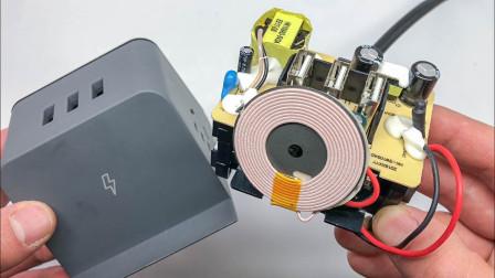 拆解爱国者无线充魔方插座,99元的售价,做工与用料你觉得如何?