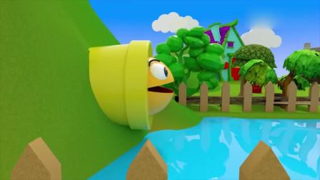 吃豆大作战:吃豆人骑着大鲨鱼来到了小村庄,遇到了很多神奇的事情