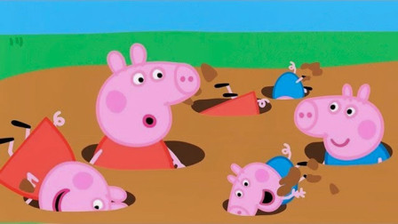 太好玩!小猪佩奇和乔治怎么藏起来了?玩捉迷藏吗?学色彩英语儿童早教益智游戏玩具