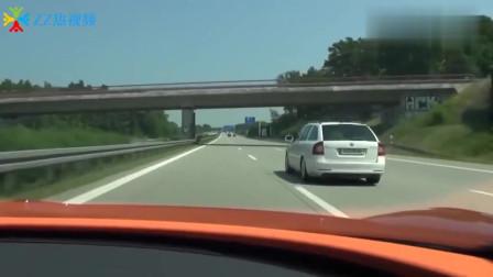 8分钟就能用完一箱油的跑车,在不限速公路上,能有多猛?