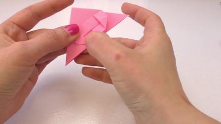 DIY 手工制作 简单炫酷 粉色 花纹 爱心书签 角 折纸 纸艺展示
