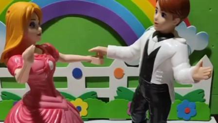 乔治把王子公主分开了,嫌弃他们不会跳舞,还是佩奇有办法!