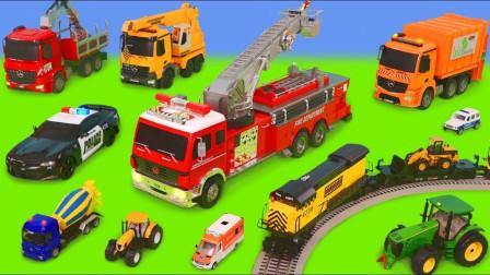咋回事?工程车们为何都紧急出动了呢?趣味玩具故事