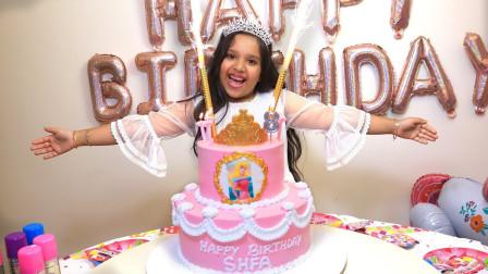 超开心!萌宝小萝莉为生日做了哪些准备?趣味玩具故事